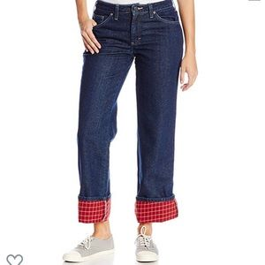 Dickies Flannel Lined straight leg jeans